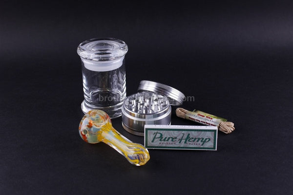 Smoker's Kit with Spoon Pipe - Brothers with Glass - 1