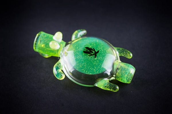 Mathematix Glass Baby Sea Turtle Chillum Pendant Hand Pipe - Brothers with Glass - 1