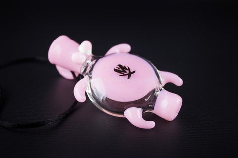 Mathematix Glass Baby Sea Turtle Chillum Pendant Hand Pipe - Pink - Brothers with Glass - 1