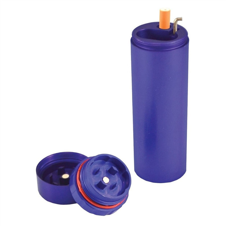 All in One Metal Dugout with Grinder - Blue - Brothers with Glass