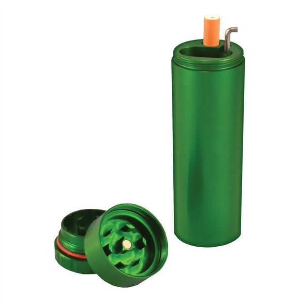 All in One Metal Dugout with Grinder - Green - Brothers with Glass - 1