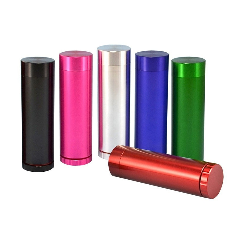 All in One Metal Dugout with Grinder - Red - Brothers with Glass - 2