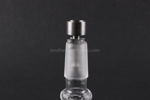 Ti POWER 18mm Drop Top Concentrate Titanium Nail - Brothers with Glass - 1