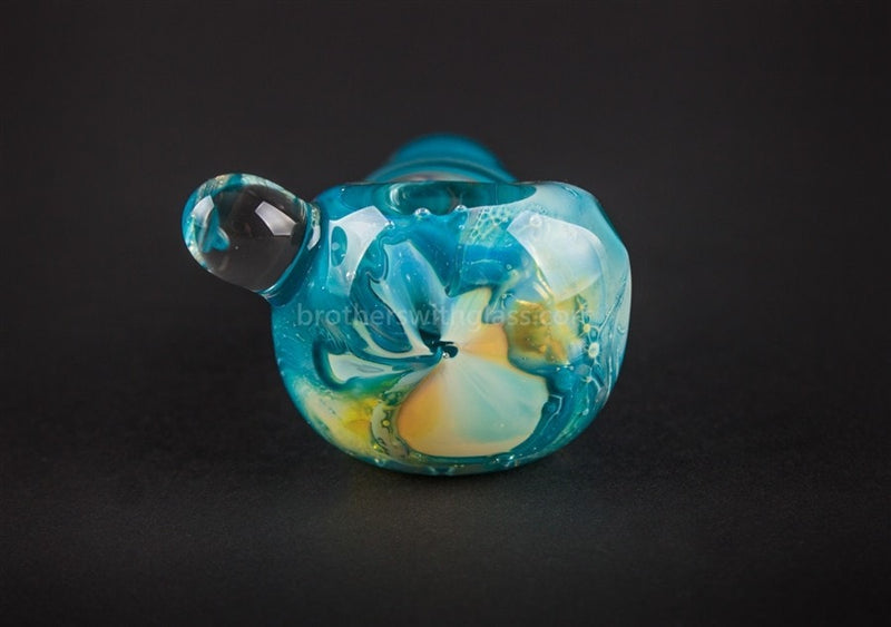 Nebula Glass Fumed Trillians Swirl Hand Pipe - Teal - Brothers with Glass - 4