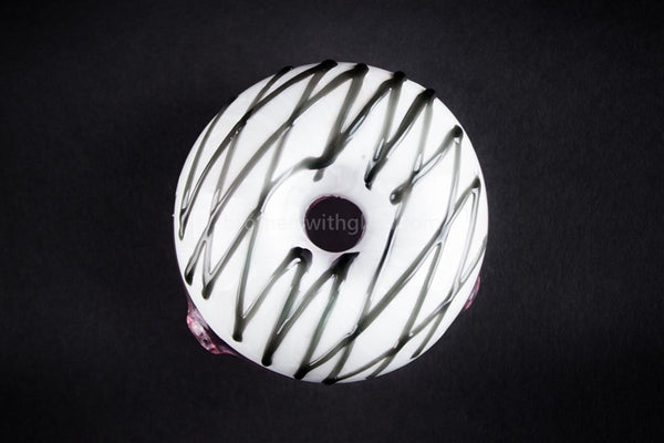 Mathematix Glass Munchies Doughnut Hand Pipe - White - Brothers with Glass - 1