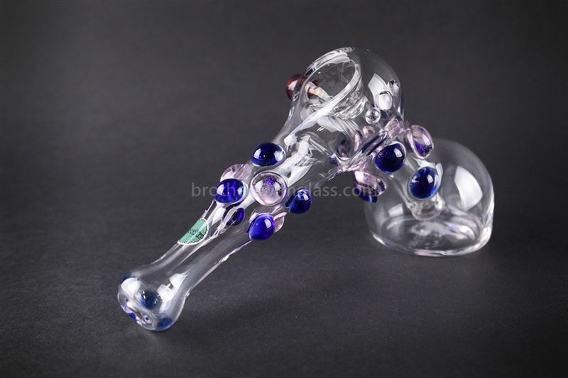 Greenlite Glass Colored Marble Hammer Bubbler Water Pipe - Blue and Pink - Brothers with Glass - 2