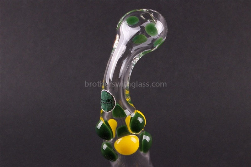 Greenlite Glass Colored Marble Bubbler Water Pipe - Yellow and Green - Brothers with Glass - 4