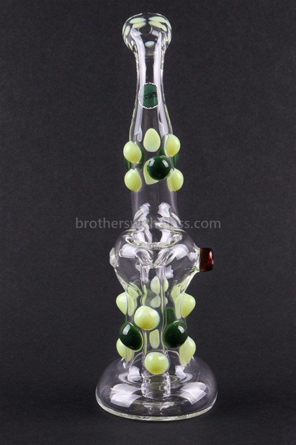 Greenlite Glass Colored Marble Bubbler Water Pipe - Greens - Brothers with Glass - 2