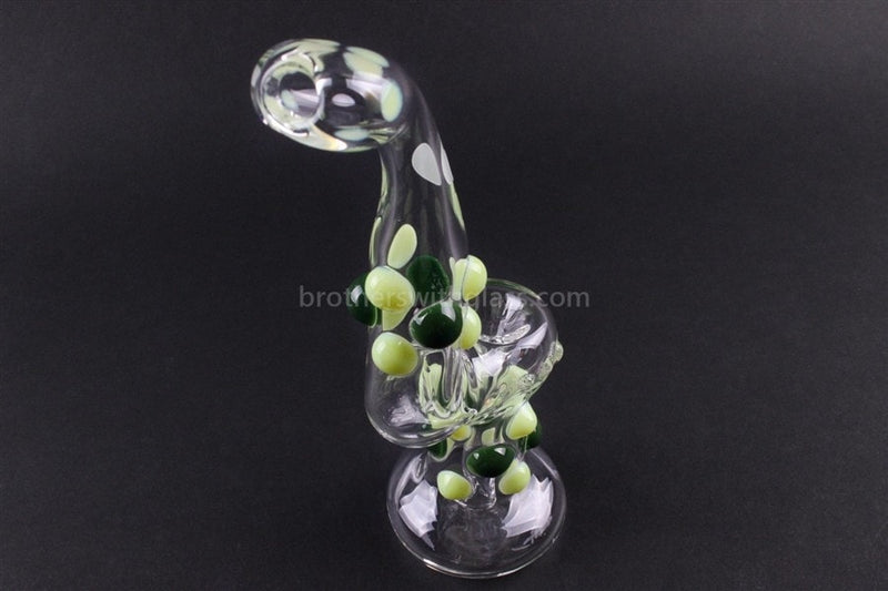 Greenlite Glass Colored Marble Bubbler Water Pipe - Greens - Brothers with Glass - 3