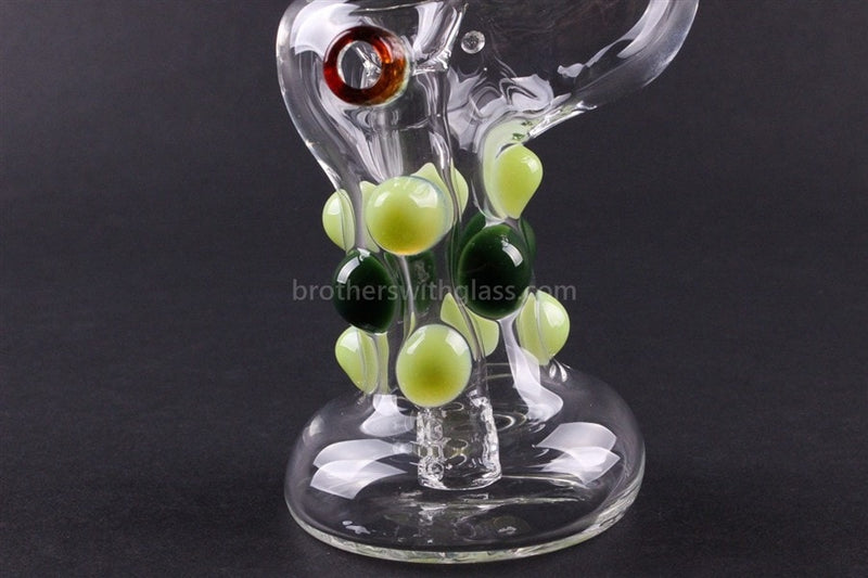 Greenlite Glass Colored Marble Bubbler Water Pipe - Greens - Brothers with Glass - 4