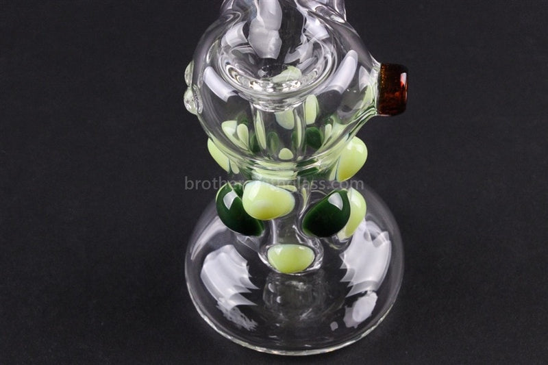 Greenlite Glass Colored Marble Bubbler Water Pipe - Greens - Brothers with Glass - 5