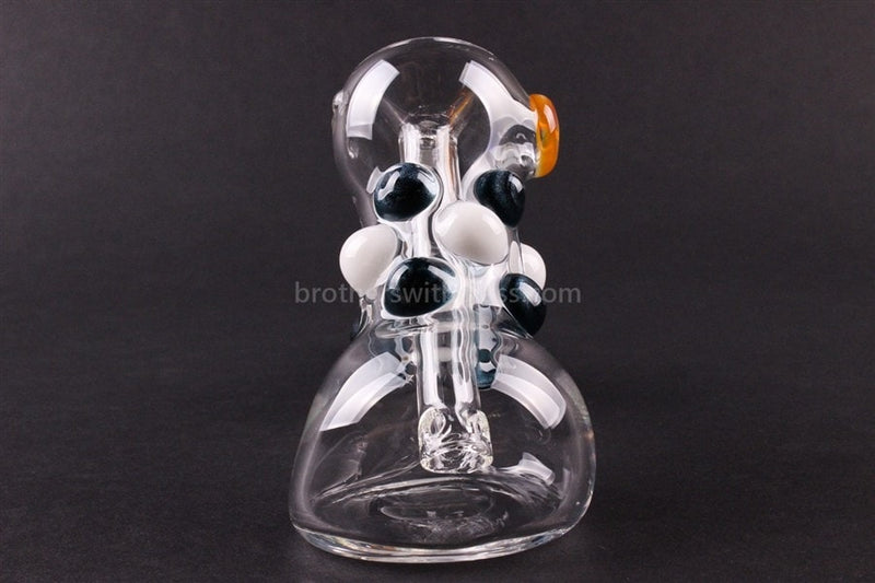 Greenlite Glass Colored Marble Hammer Bubbler Water Pipe - Blue and White - Brothers with Glass - 3