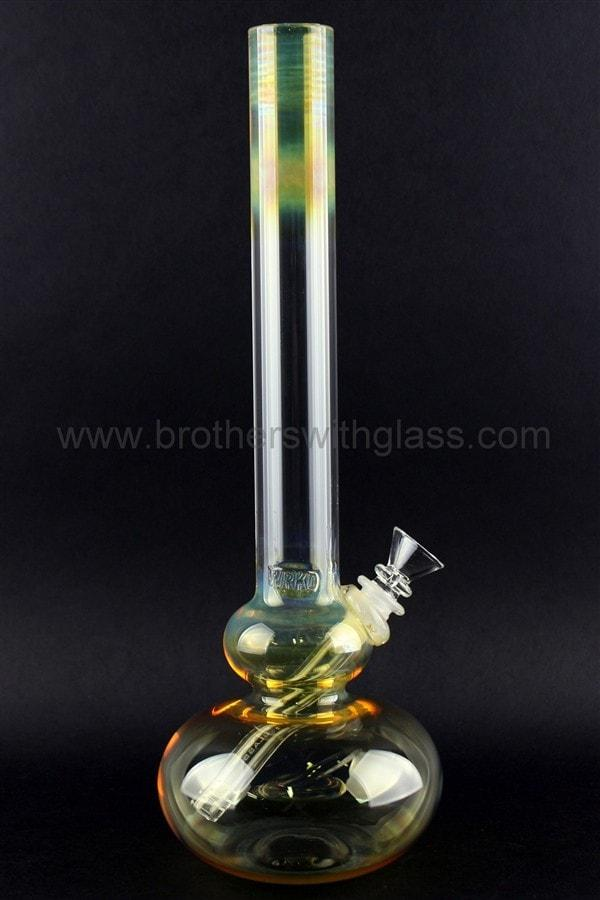 HVY Glass WRKD Fumed Bubble Bottom Water Pipe - Brothers with Glass - 1