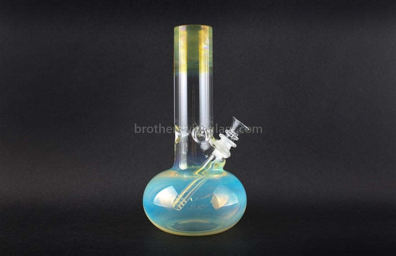 HVY Glass WRKD Mini Bubble Bottom Fumed Water Pipe - Brothers with Glass - 1