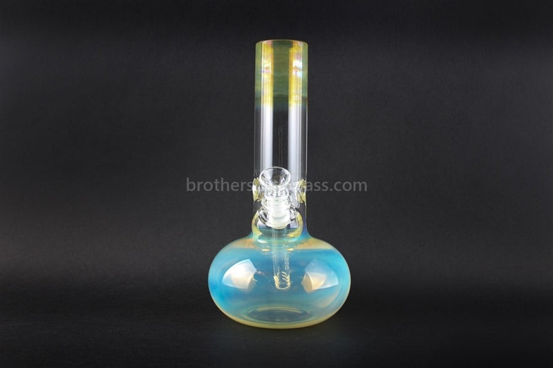 HVY Glass WRKD Mini Bubble Bottom Fumed Water Pipe - Brothers with Glass - 2
