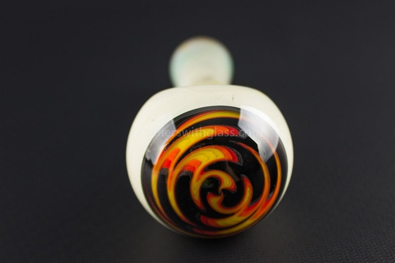 Liberty Glass 503 Fumed Wig Wag Blank Hand Pipe - Flame - Brothers with Glass - 3