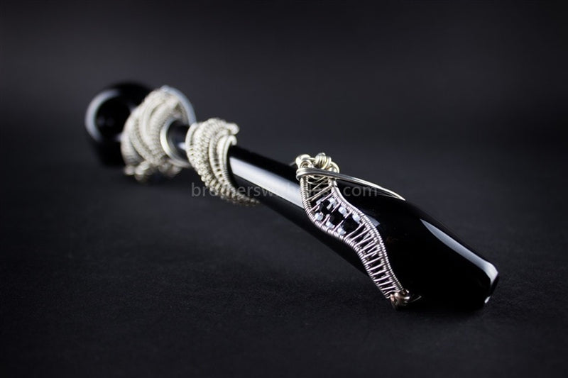 Chameleon Glass With Nikki Wire Wrap Snake Gandalf Hand Pipe - Brothers with Glass - 3