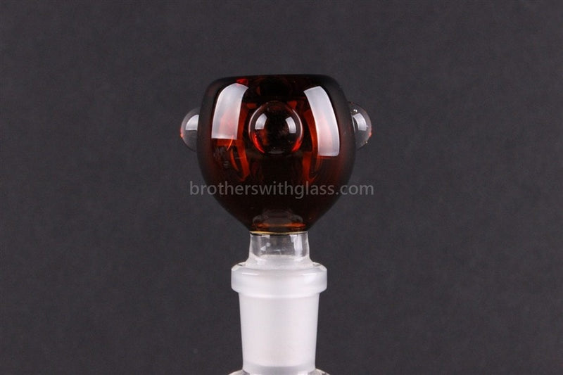Bowl With Marbles Glass Slide 14 mm Amber - Brothers with Glass - 1
