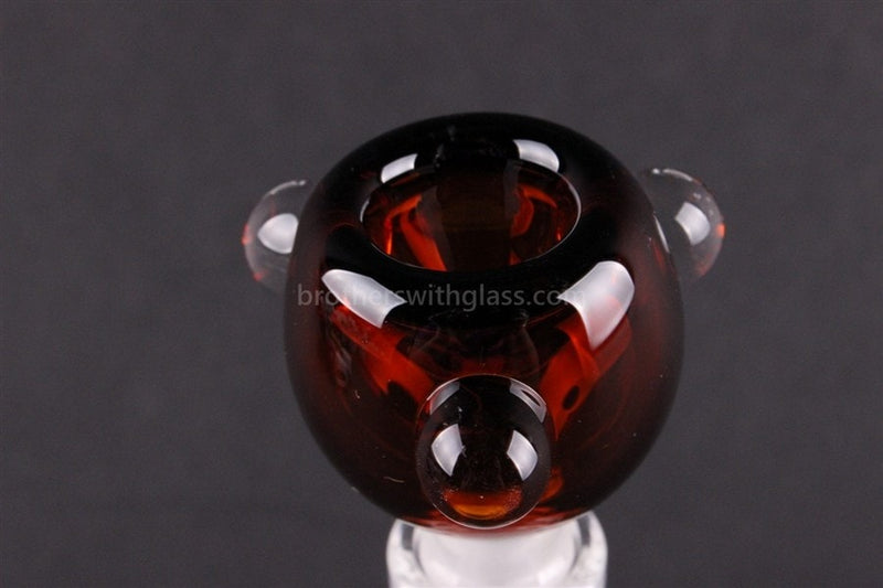 Bowl With Marbles Glass Slide 14 mm Amber - Brothers with Glass - 2