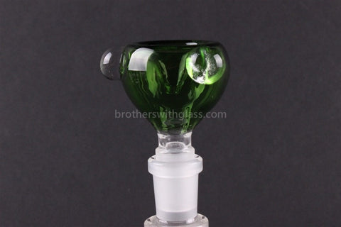 Green Glass Slide With Marbles 14 mm - Brothers with Glass - 1