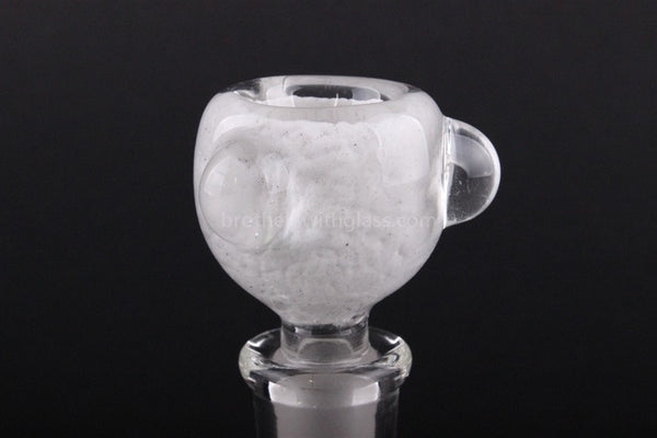 White Bowl With Marbles Glass Slide 14 mm - Brothers with Glass - 1