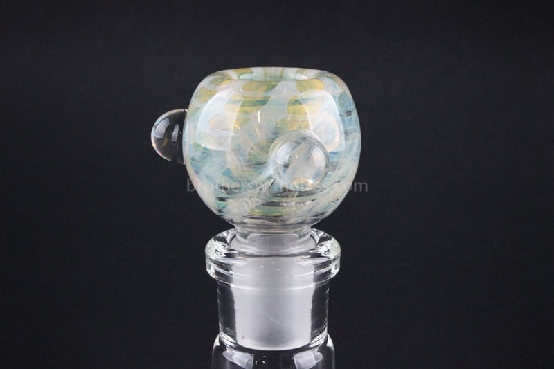 18mm Bowl With Marbles Glass Slide - Fumed - Brothers with Glass - 1