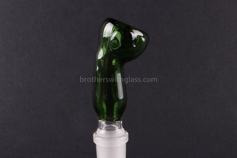 Glass Slide With Bent Neck 14 mm Green - Brothers with Glass - 1