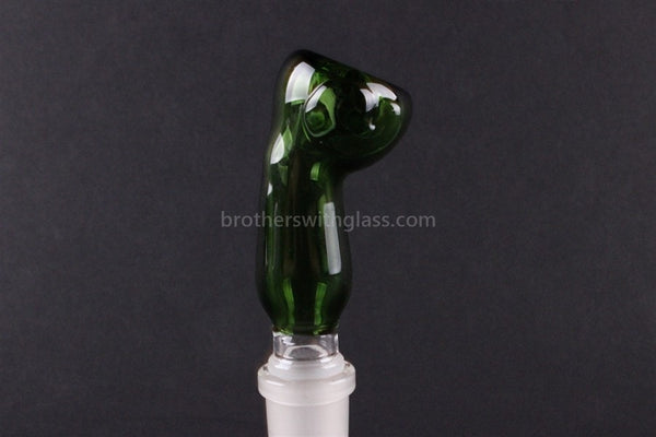 Green Glass Slide With Bent Neck 18 mm - Brothers with Glass - 1