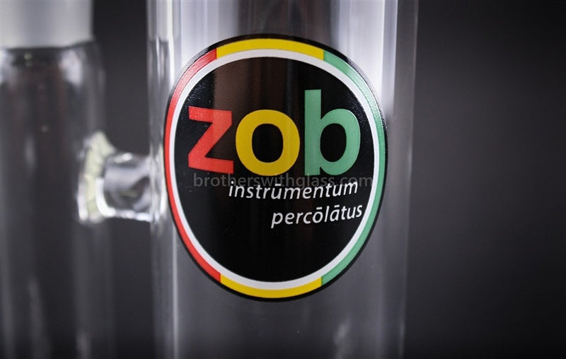 Zob Glass 14 In Straight Inline Diffuser Water Pipe - Brothers with Glass - 3