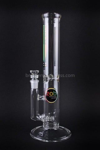 Zob Glass 18 In Straight Inline Water Pipe - Brothers with Glass - 1