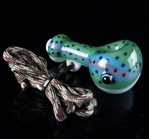 603 Glass Traveler Fish Whistle Spoon Hand Pipe