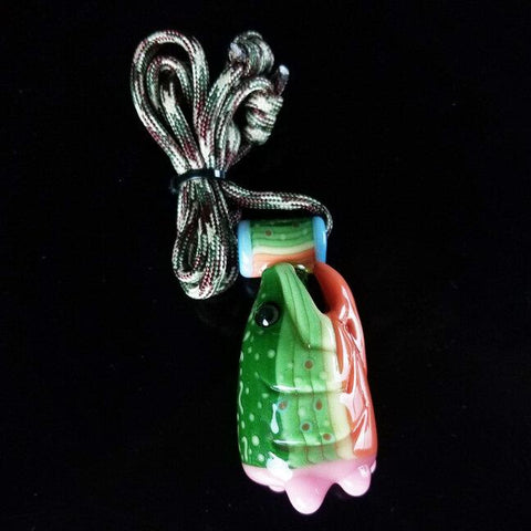 603 Glass Fish Pendant Chillum Hand Pipe