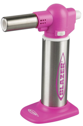 Blazer Big Buddy Refillable Butane Turbo Torch - Pink