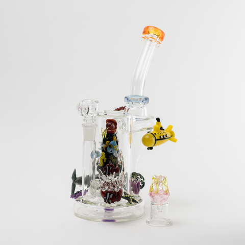 Empire Glassworks Heady CFL And UV Aquatic Recycler Dab Rig