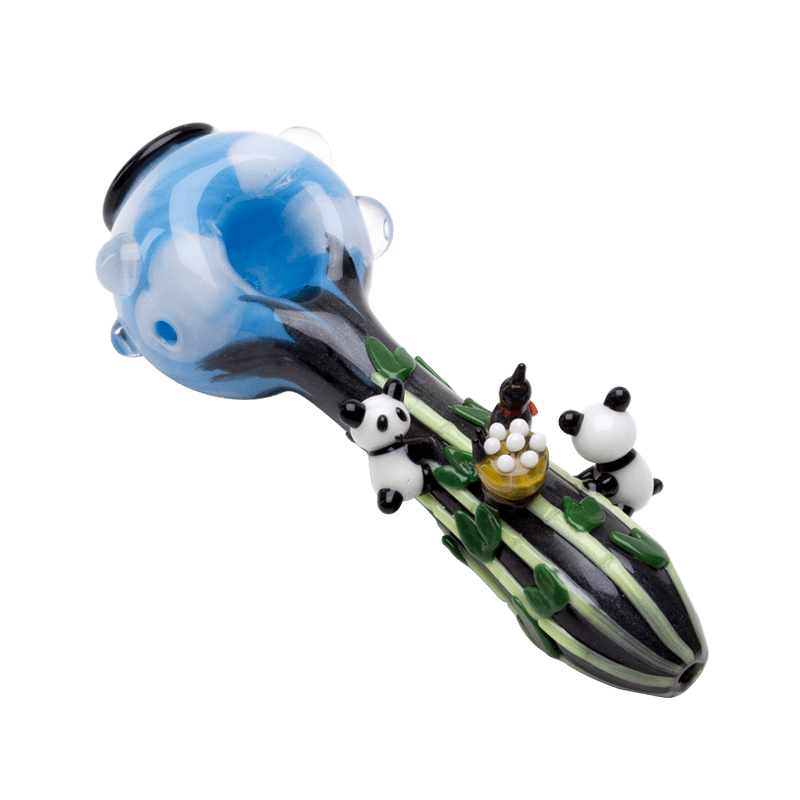Empire Glassworks Heady Climbing Pandas Hand Pipe - Brothers with Glass - 2