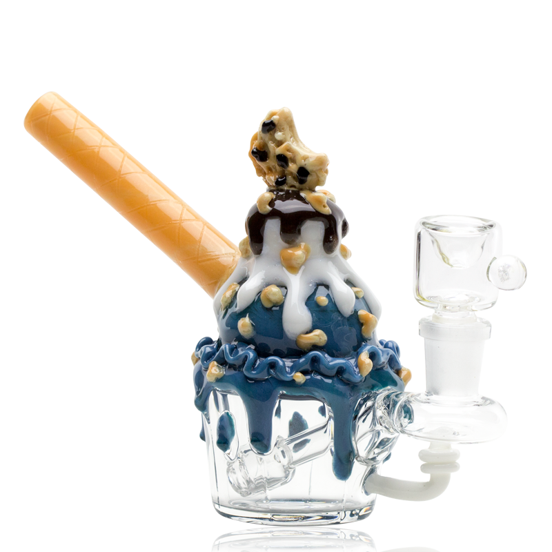 Empire Glassworks Mini Cookie Monster Sundae Bong