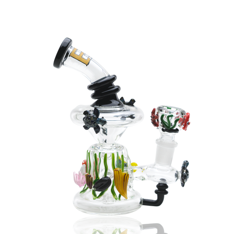 Empire Glassworks East Australian Current Mini Recycler Dab Rig