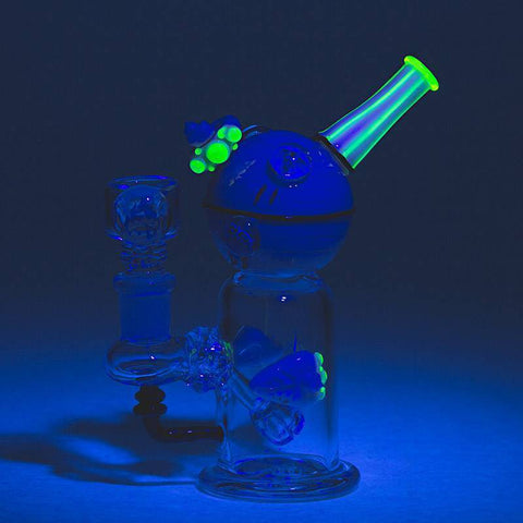 Empire Glassworks Illuminati Death Star Mini Dab Rig