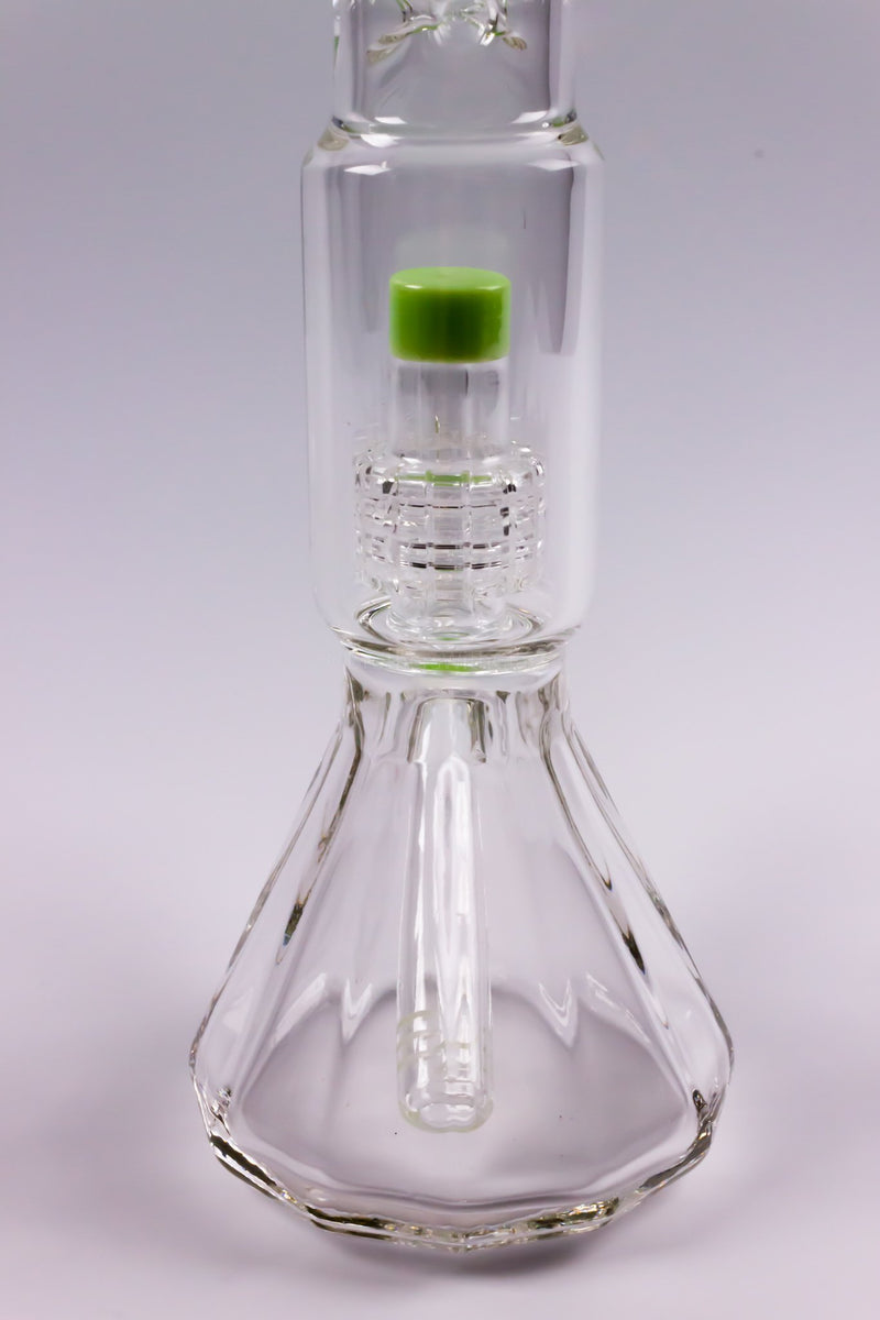 No Label Glass Molded Style Matrix Perc Beaker Pipe