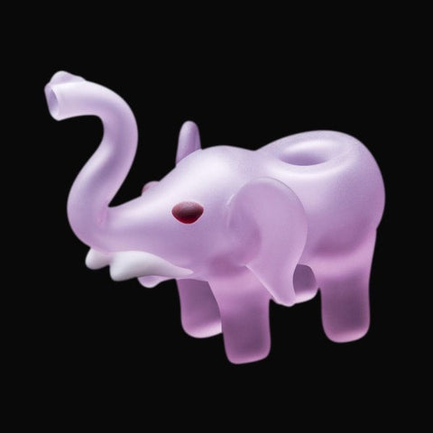 Chameleon Glass Pink Elephant Hand Pipe