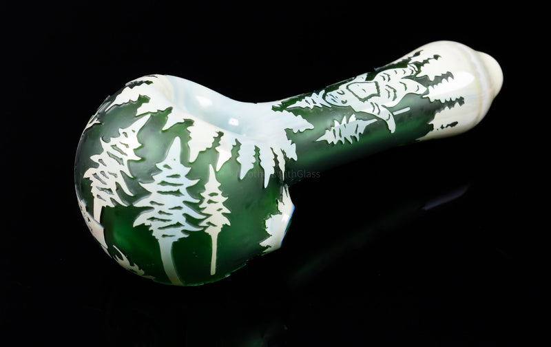Liberty 503 Fumed Sandblasted Hand Pipe - Sasquatch Green