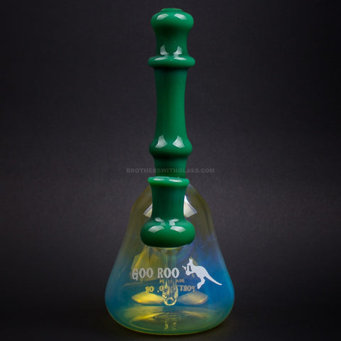 Goo Roo Designs Green And Fumed Banger Hanger Dab Rig