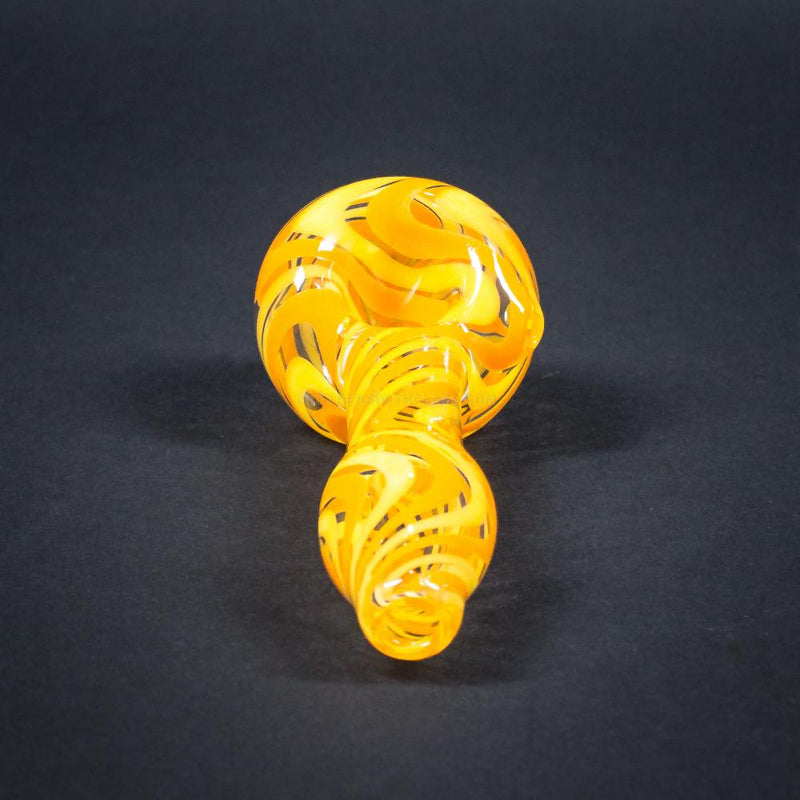 Chameleon Glass Ripple Wig Wag Hand Pipe