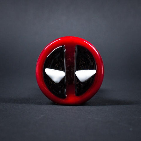 Chameleon Glass Deadpool Hand Pipe