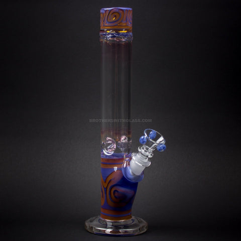 HVY Glass Straight Colored Coil Bong - Purple