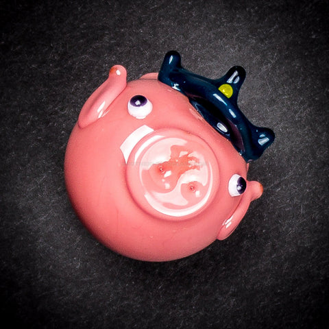Chameleon Glass Officer Porky Pendant