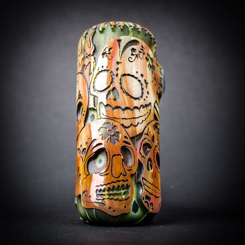 Liberty 503 Deep Carve Sandblasted Cobb Hand Pipe - Day Of The Dead