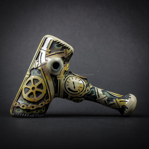Liberty 503 Deep Carve Sandblasted Cobb Hand Pipe - Gears