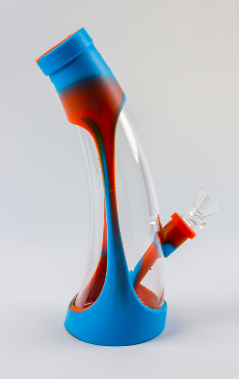 No Label Silicone and Acrylic Cone Bong