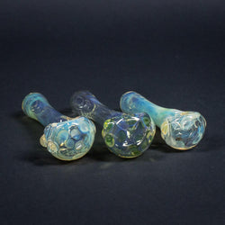 Goo Roo Designs Fumed Hand Pipe With UV Accents